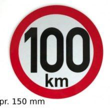 Samolepka 100km