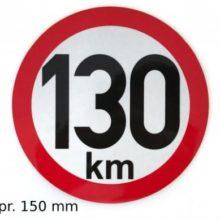 Samolepka 130km