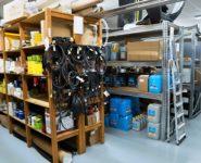 sklad náhradních dílů pro kompresory