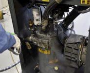 údržba průmyslového kompresoru