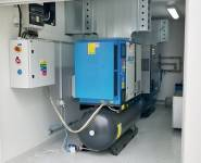 kompresorovna mimo výrobní prostory