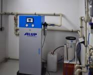 úprava vzduchu v kontejnerové kompresorové stanici